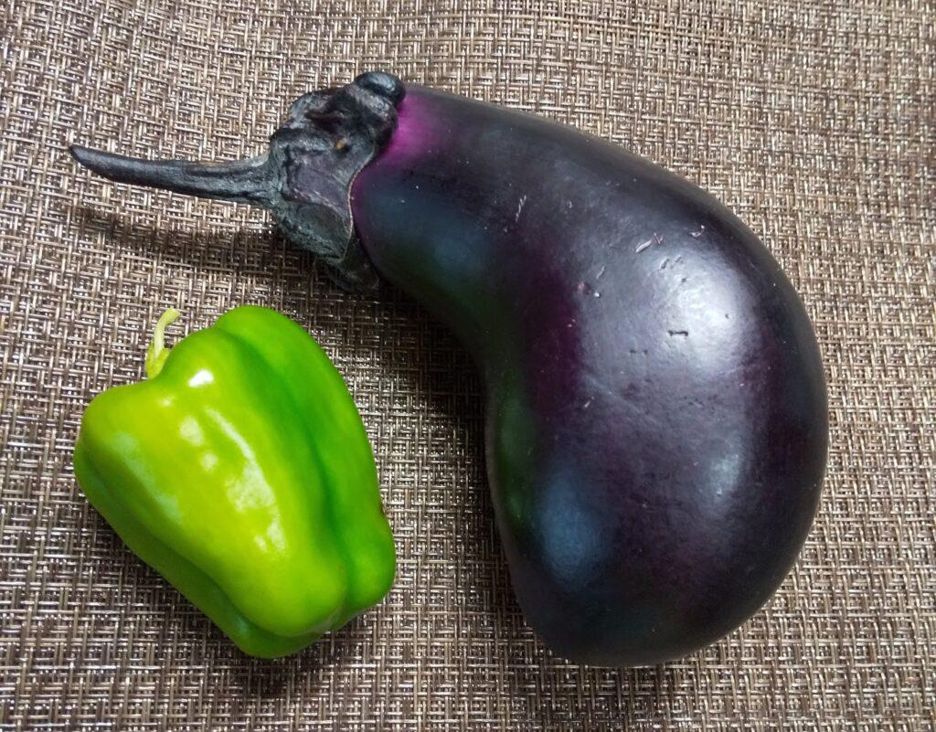 茄子とピーマン